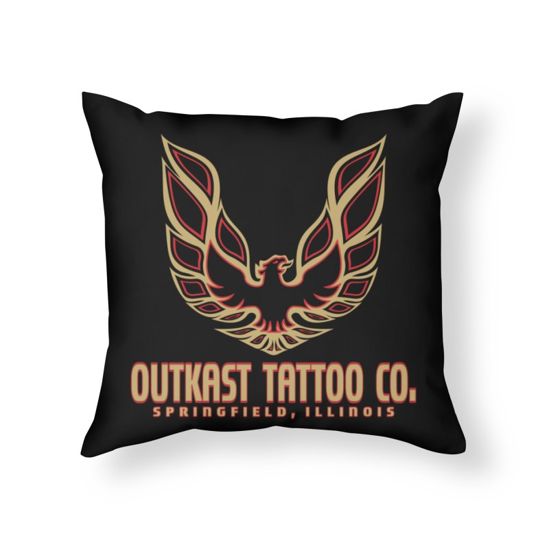 OUTKAST AM Home Throw Pillow by OutkastTattooCompany's Artist Shop