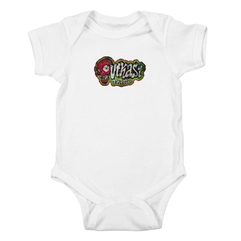 OUTKAST OG LOGO DISTRESSED COLOR Kids Baby Bodysuit by OutkastTattooCompany's Artist Shop
