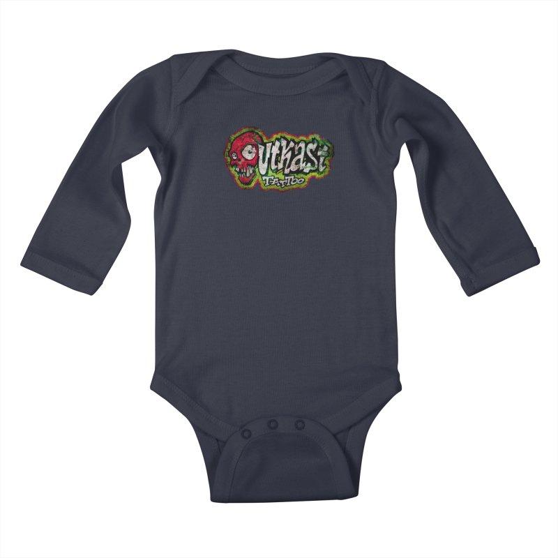 OUTKAST OG LOGO DISTRESSED COLOR Kids Baby Longsleeve Bodysuit by OutkastTattooCompany's Artist Shop