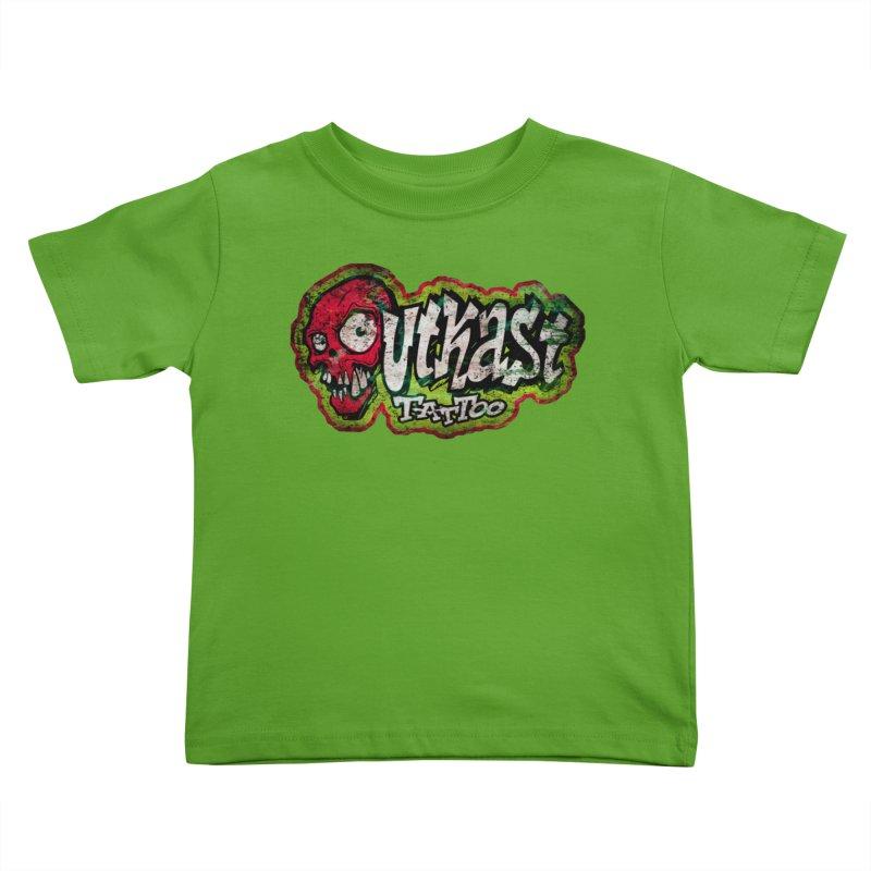 OUTKAST OG LOGO DISTRESSED COLOR Kids Toddler T-Shirt by OutkastTattooCompany's Artist Shop
