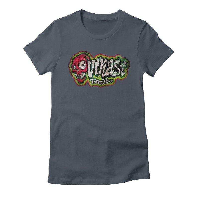 OUTKAST OG LOGO DISTRESSED COLOR Women's T-Shirt by OutkastTattooCompany's Artist Shop