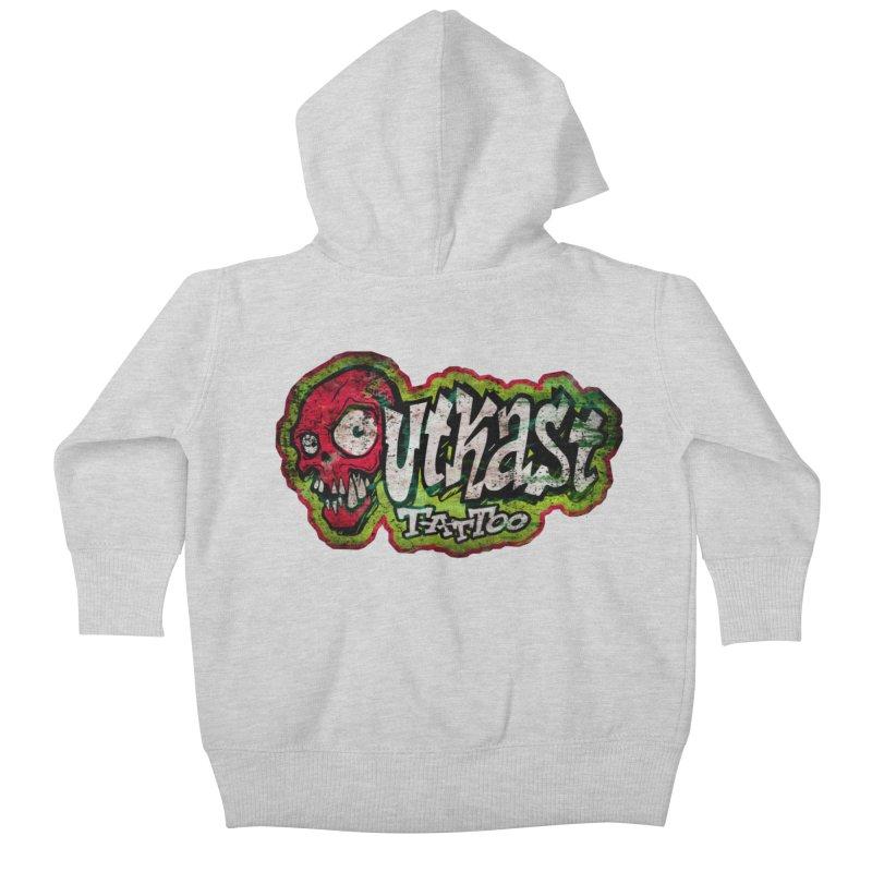 OUTKAST OG LOGO DISTRESSED COLOR Kids Baby Zip-Up Hoody by OutkastTattooCompany's Artist Shop