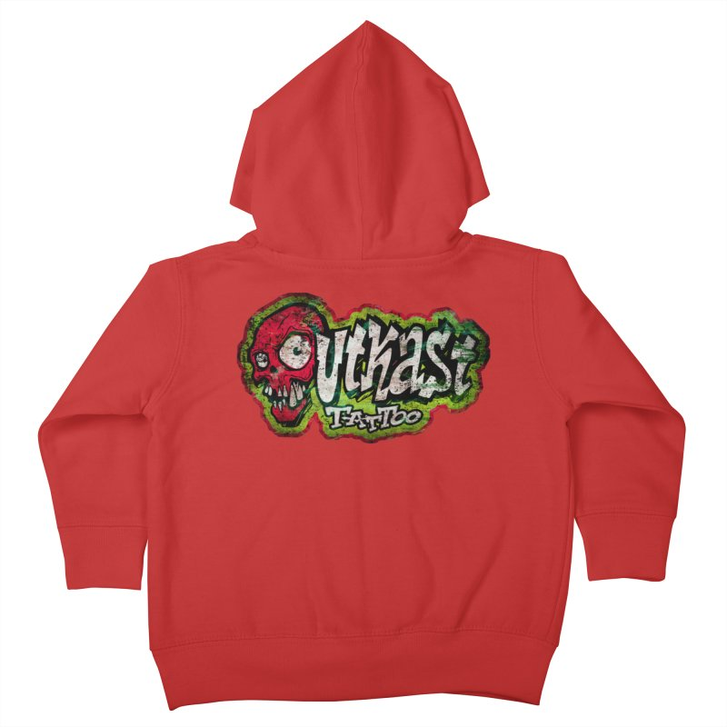 OUTKAST OG LOGO DISTRESSED COLOR Kids Toddler Zip-Up Hoody by OutkastTattooCompany's Artist Shop