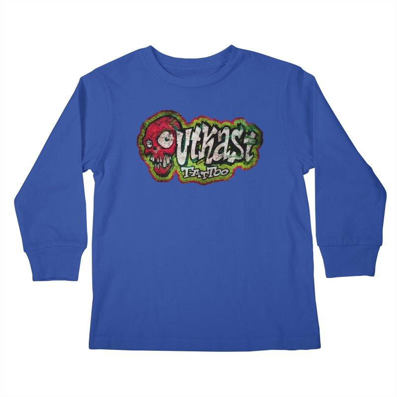 OUTKAST OG LOGO DISTRESSED COLOR Kids Longsleeve T-Shirt by OutkastTattooCompany's Artist Shop