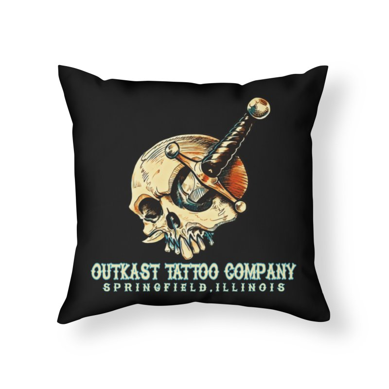 OUTKAST TATTOO COMPANY - EYE WILL STAB YOU Home Throw Pillow by OutkastTattooCompany's Artist Shop