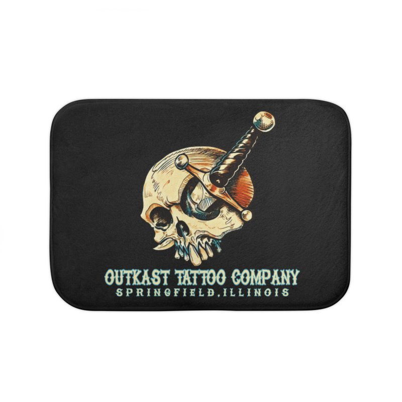 OUTKAST TATTOO COMPANY - EYE WILL STAB YOU Home Bath Mat by OutkastTattooCompany's Artist Shop