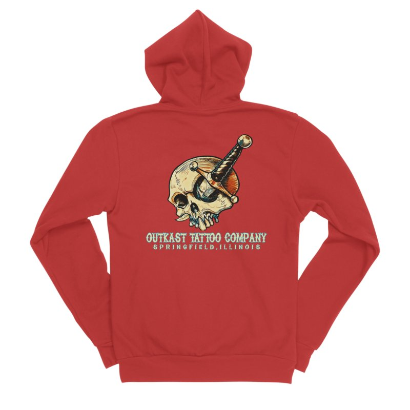 OUTKAST TATTOO COMPANY - EYE WILL STAB YOU Men's Zip-Up Hoody by OutkastTattooCompany's Artist Shop