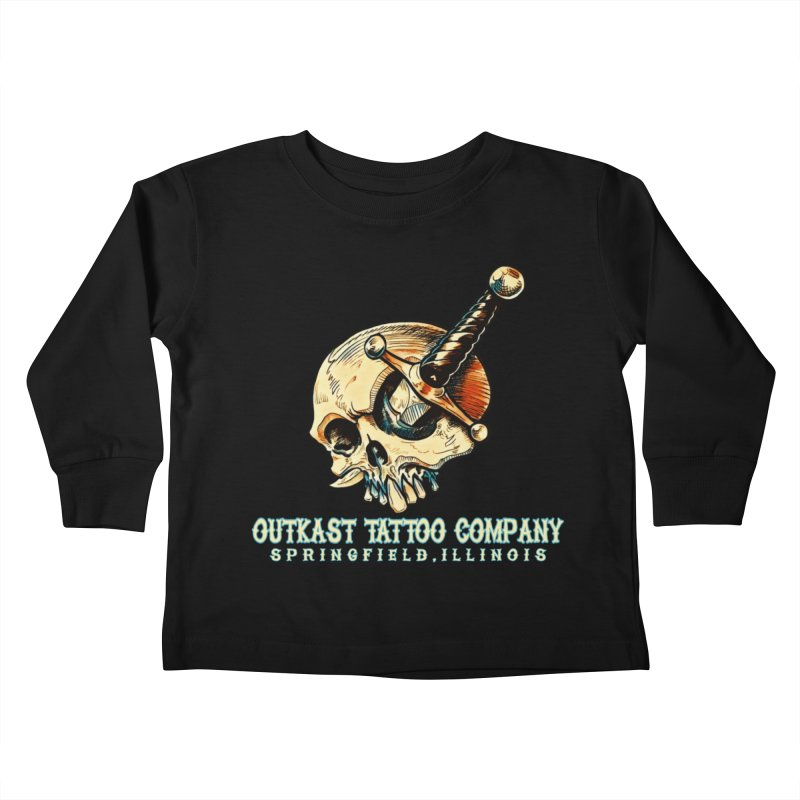 OUTKAST TATTOO COMPANY - EYE WILL STAB YOU Kids Toddler Longsleeve T-Shirt by OutkastTattooCompany's Artist Shop
