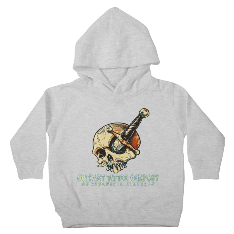 OUTKAST TATTOO COMPANY - EYE WILL STAB YOU Kids Toddler Pullover Hoody by OutkastTattooCompany's Artist Shop