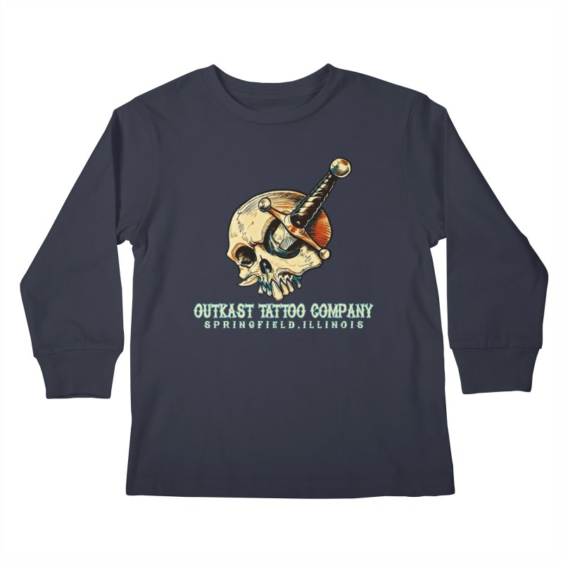 OUTKAST TATTOO COMPANY - EYE WILL STAB YOU Kids Longsleeve T-Shirt by OutkastTattooCompany's Artist Shop