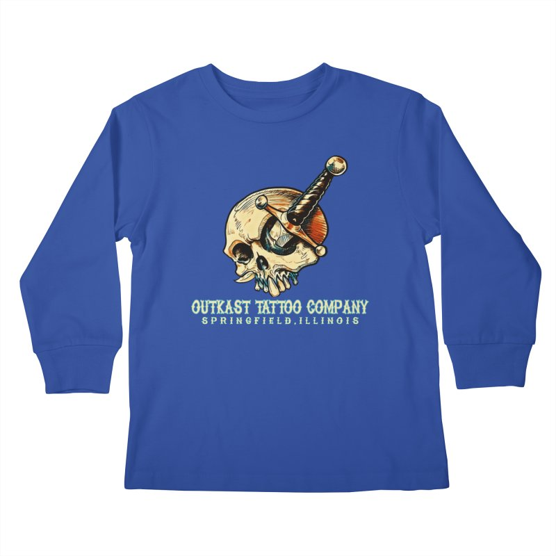 OUTKAST TATTOO COMPANY - EYE WILL STAB YOU Kids Longsleeve T-Shirt by OutkastTattooCompany's Artist Shop