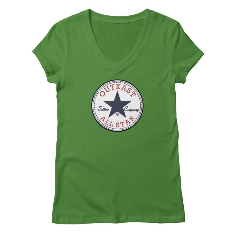 Outkast Tuck Chaylor All Star Women's V-Neck by OutkastTattooCompany's Artist Shop