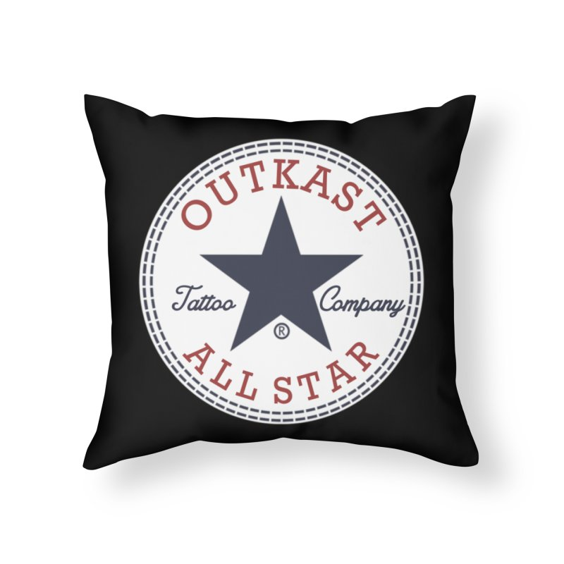 Outkast Tuck Chaylor All Star Home Throw Pillow by OutkastTattooCompany's Artist Shop