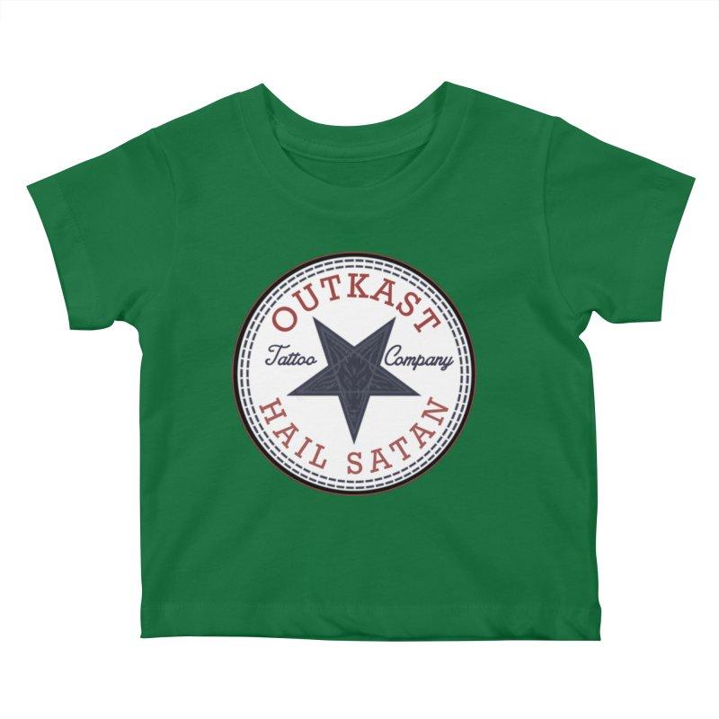 OUTKAST HAIL SATAN ALL STAR Kids Baby T-Shirt by OutkastTattooCompany's Artist Shop