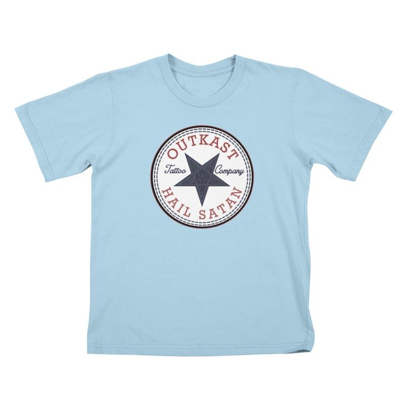 OUTKAST HAIL SATAN ALL STAR Kids T-Shirt by OutkastTattooCompany's Artist Shop