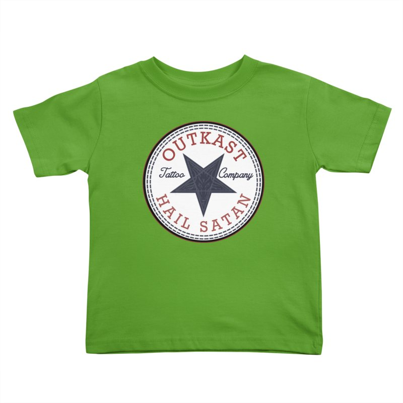 OUTKAST HAIL SATAN ALL STAR Kids Toddler T-Shirt by OutkastTattooCompany's Artist Shop