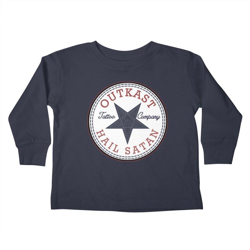 OUTKAST HAIL SATAN ALL STAR Kids Toddler Longsleeve T-Shirt by OutkastTattooCompany's Artist Shop