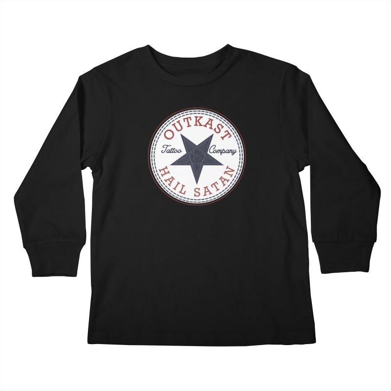 OUTKAST HAIL SATAN ALL STAR Kids Longsleeve T-Shirt by OutkastTattooCompany's Artist Shop