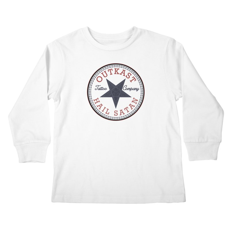 OUTKAST HAIL SATAN ALL STAR Kids Longsleeve T-Shirt by OutkastTattooCompany's Artist Shop