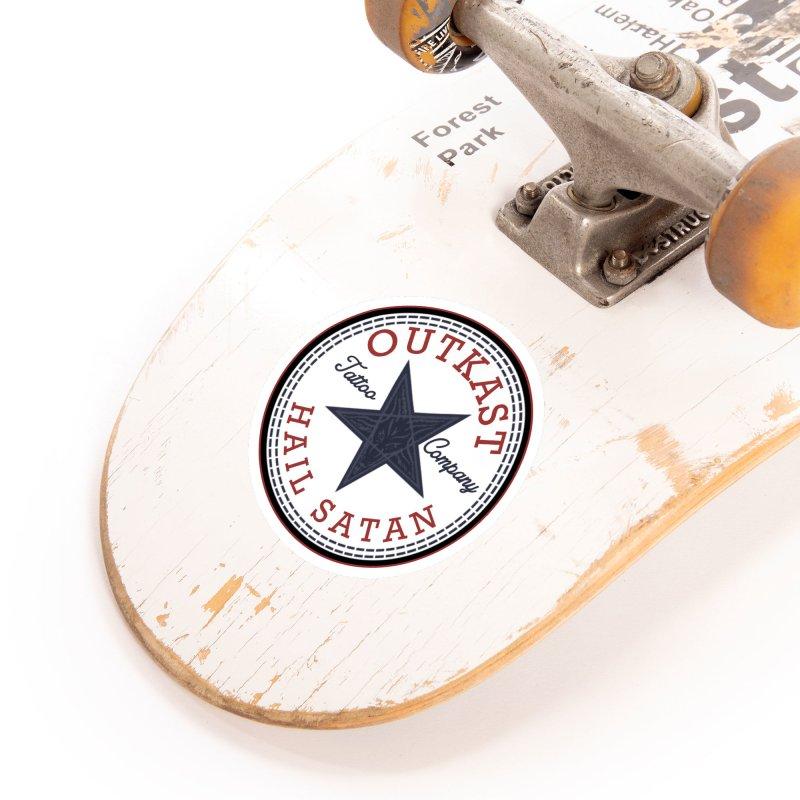 OUTKAST HAIL SATAN ALL STAR Accessories Sticker by OutkastTattooCompany's Artist Shop