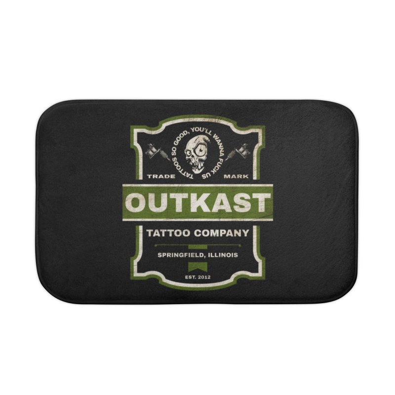 OUTKAST BLACK LABEL TATTOOS Home Bath Mat by OutkastTattooCompany's Artist Shop