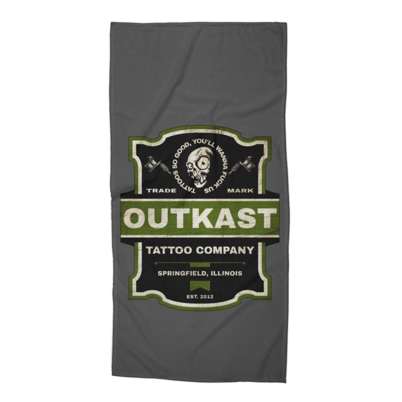OUTKAST BLACK LABEL TATTOOS Accessories Beach Towel by OutkastTattooCompany's Artist Shop