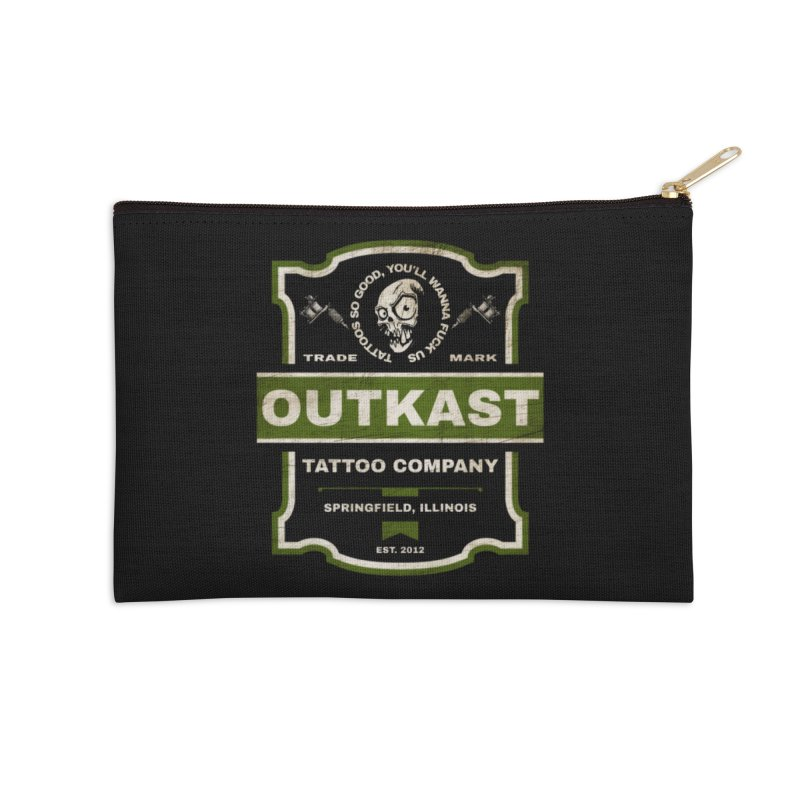 OUTKAST BLACK LABEL TATTOOS Accessories Zip Pouch by OutkastTattooCompany's Artist Shop