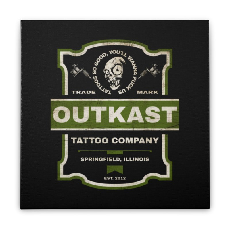 OUTKAST BLACK LABEL TATTOOS Home Stretched Canvas by OutkastTattooCompany's Artist Shop