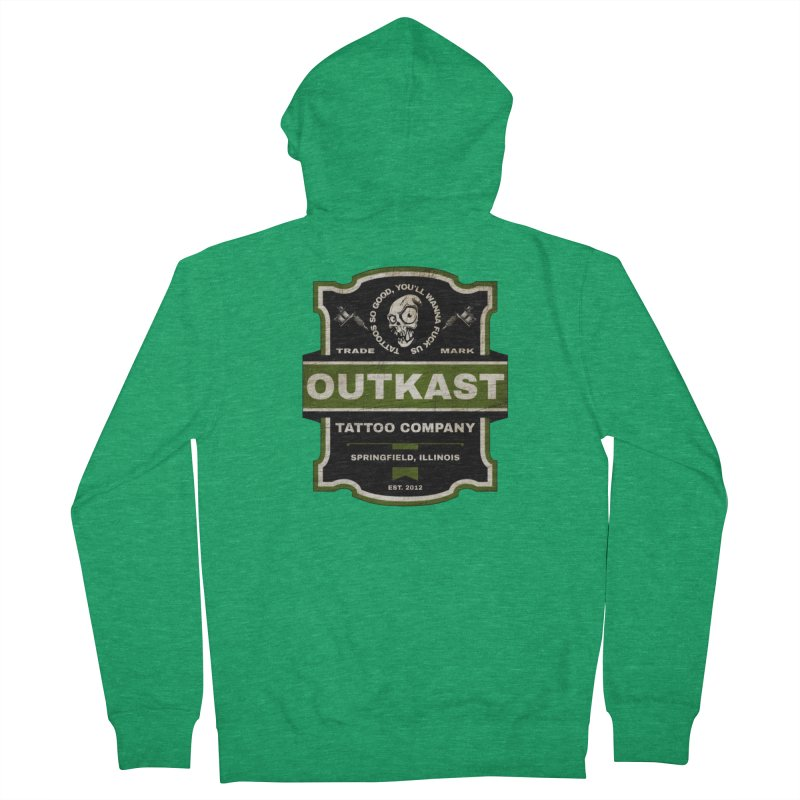 OUTKAST BLACK LABEL TATTOOS Men's Zip-Up Hoody by OutkastTattooCompany's Artist Shop