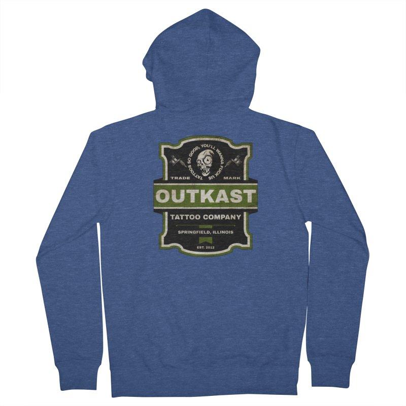 OUTKAST BLACK LABEL TATTOOS Men's Zip-Up Hoody by OutkastTattooCompany's Artist Shop