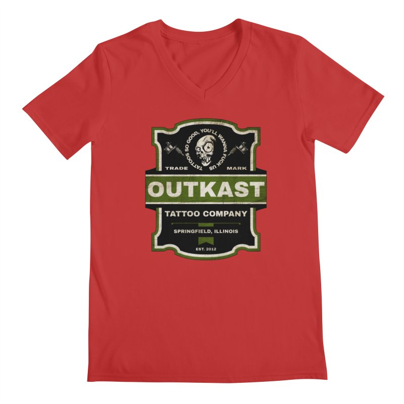 OUTKAST BLACK LABEL TATTOOS Men's V-Neck by OutkastTattooCompany's Artist Shop