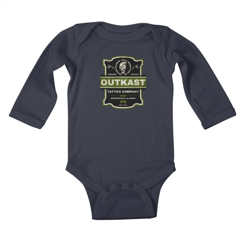 OUTKAST BLACK LABEL TATTOOS Kids Baby Longsleeve Bodysuit by OutkastTattooCompany's Artist Shop