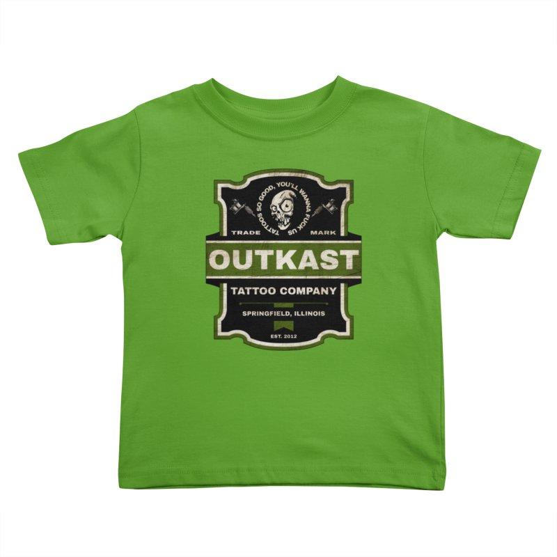 OUTKAST BLACK LABEL TATTOOS Kids Toddler T-Shirt by OutkastTattooCompany's Artist Shop