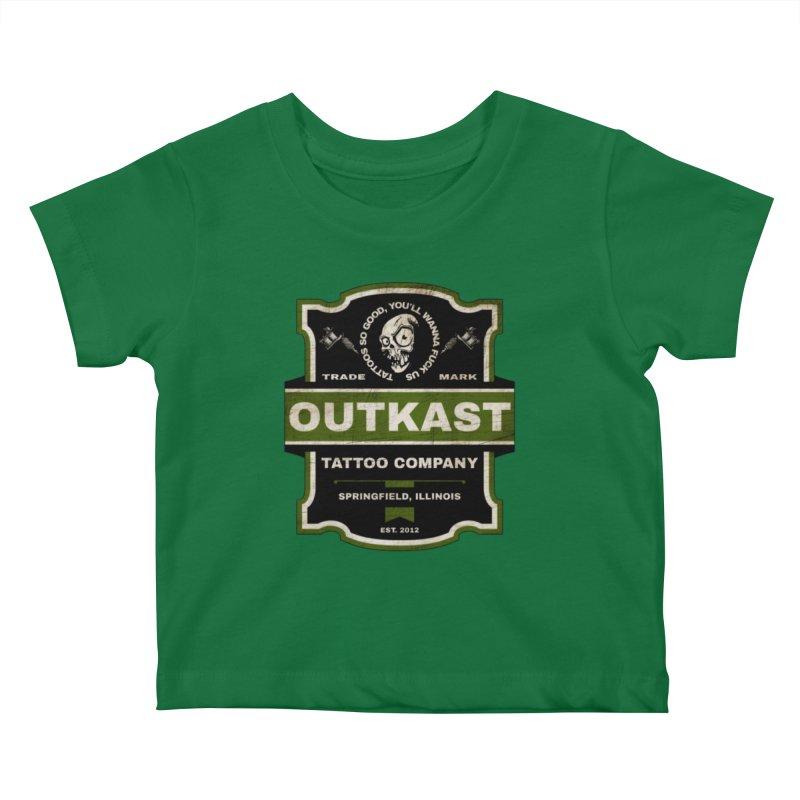 OUTKAST BLACK LABEL TATTOOS Kids Baby T-Shirt by OutkastTattooCompany's Artist Shop