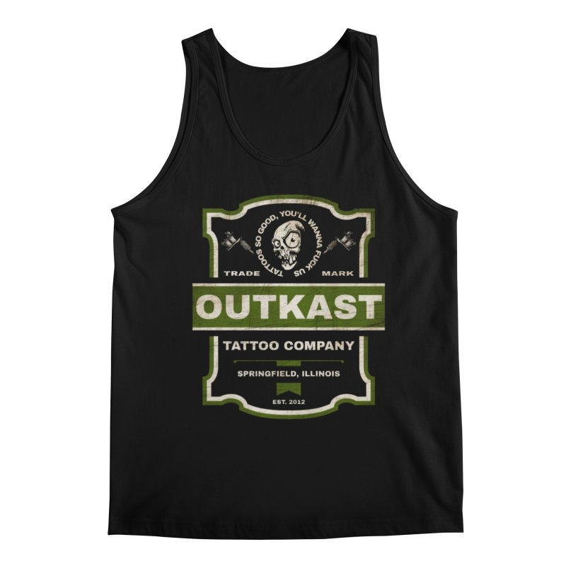 OUTKAST BLACK LABEL TATTOOS Men's Tank by OutkastTattooCompany's Artist Shop