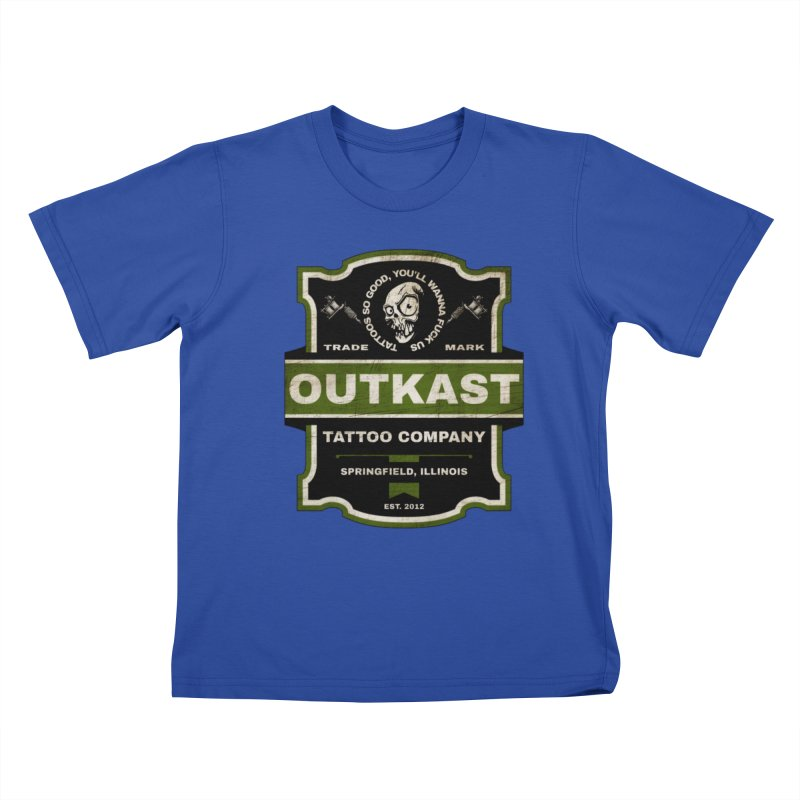 OUTKAST BLACK LABEL TATTOOS Kids T-Shirt by OutkastTattooCompany's Artist Shop