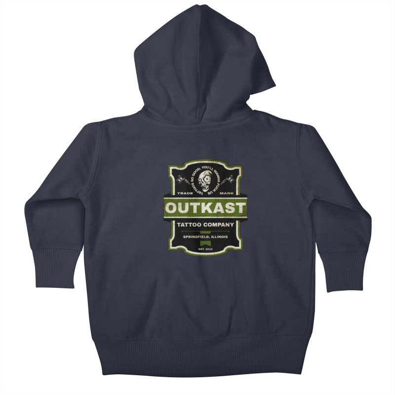 OUTKAST BLACK LABEL TATTOOS Kids Baby Zip-Up Hoody by OutkastTattooCompany's Artist Shop