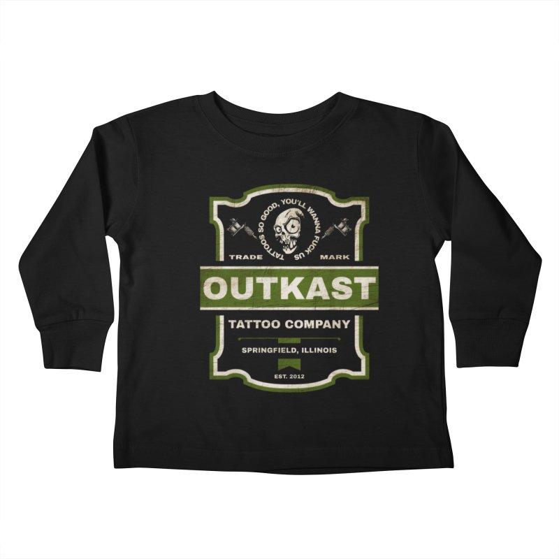 OUTKAST BLACK LABEL TATTOOS Kids Toddler Longsleeve T-Shirt by OutkastTattooCompany's Artist Shop