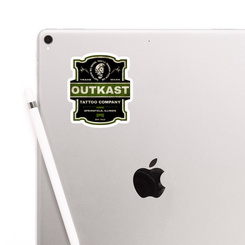 OUTKAST BLACK LABEL TATTOOS Accessories Sticker by OutkastTattooCompany's Artist Shop