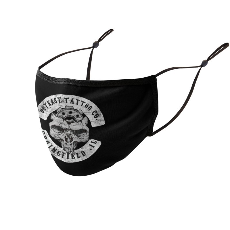 old school skull logo Accessories Face Mask by OutkastTattooCompany's Artist Shop