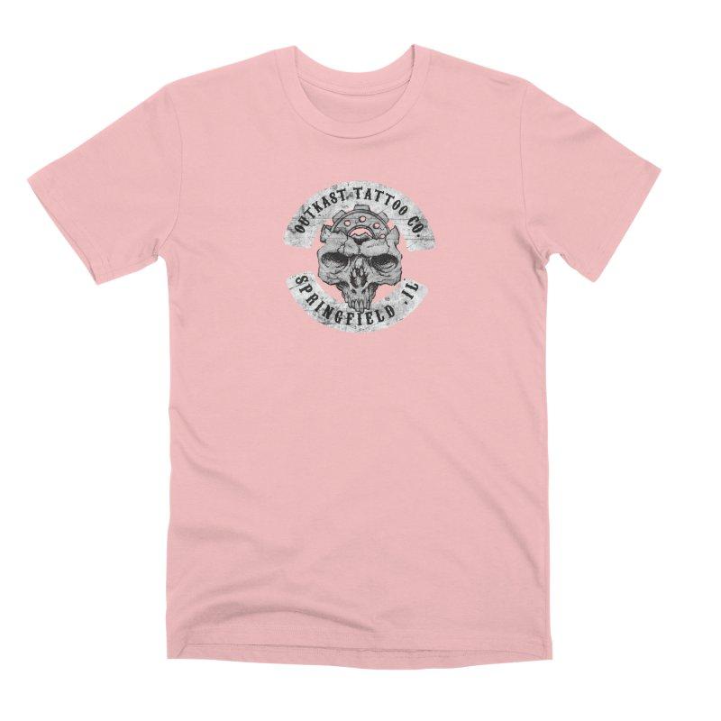 old school skull logo Men's T-Shirt by OutkastTattooCompany's Artist Shop
