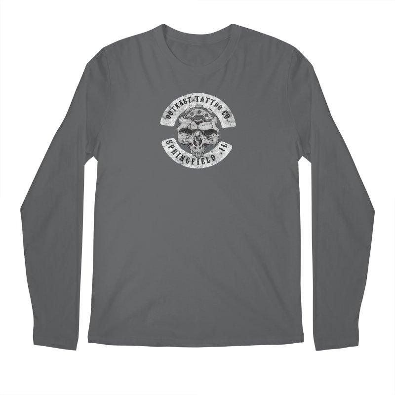 old school skull logo Men's Longsleeve T-Shirt by OutkastTattooCompany's Artist Shop