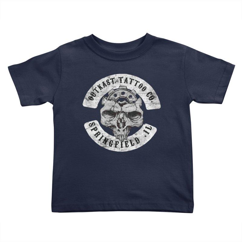 old school skull logo Kids Toddler T-Shirt by OutkastTattooCompany's Artist Shop