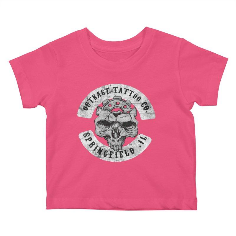 old school skull logo Kids Baby T-Shirt by OutkastTattooCompany's Artist Shop