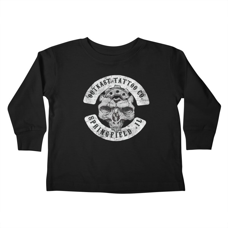 old school skull logo Kids Toddler Longsleeve T-Shirt by OutkastTattooCompany's Artist Shop