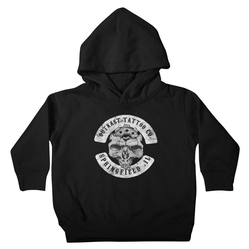 old school skull logo Kids Toddler Pullover Hoody by OutkastTattooCompany's Artist Shop