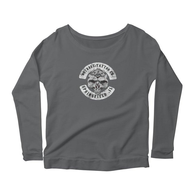 old school skull logo Women's Longsleeve T-Shirt by OutkastTattooCompany's Artist Shop