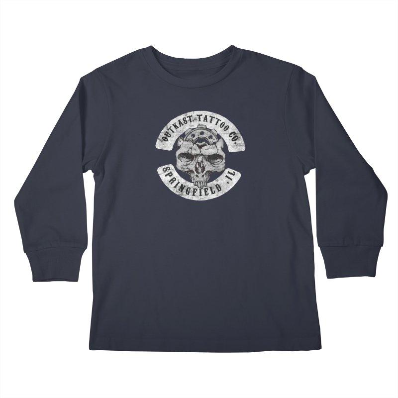 old school skull logo Kids Longsleeve T-Shirt by OutkastTattooCompany's Artist Shop
