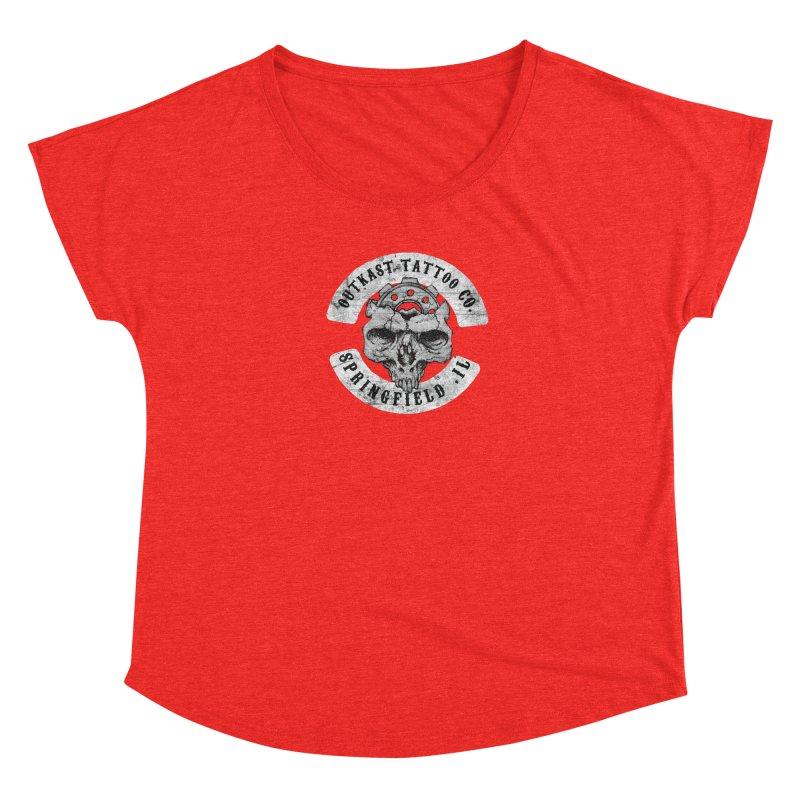 old school skull logo Women's Scoop Neck by OutkastTattooCompany's Artist Shop