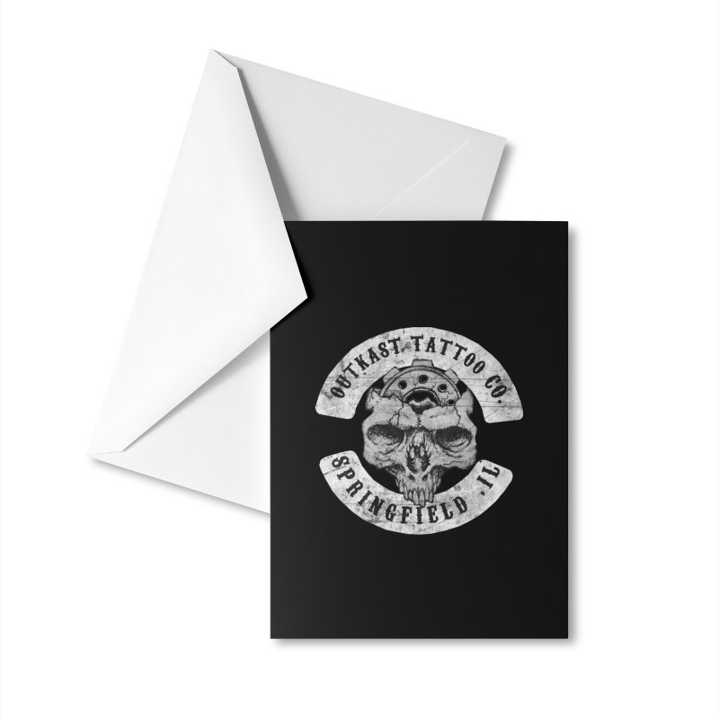 old school skull logo Accessories Greeting Card by OutkastTattooCompany's Artist Shop